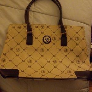 Liz Mario momogram leather bag